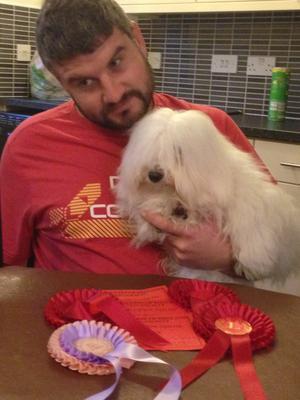 Lottie won reserve best puppy in show 7 months old